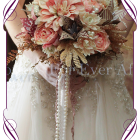 ialmage of alternative origami silk flower wedding bouquet