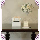 White floral wedding table decoration for hire to Melbourne and surrounds