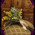 silk wattle and australian natives bridal bouquet, bush wedding and rustic wedding, australian native bridal bouquet