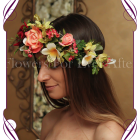 Silk Artificial Flower crown halo