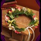 flower crown silk orchid rose frangipani flower halo