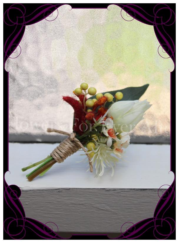 Merindah Flowers Artificial Wedding Flower Designs Silk Australian Native Groom