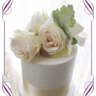 Ivory and blush silk artificial wedding cake flowers decoration. Easy style. Made in Melbourne Australia. Shipping world wide.