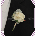 Gents / Groomsmens / Grooms boutonniere featuring silk artificial rose on foliage. Made in Melbourne, Custom Orders available.