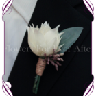 protea gents groom wedding silk flower button
