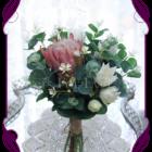 Australian native silk artificial protea and gum bridesmaid bouquet design. Made in Melbourne. Shipping worldwide