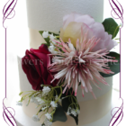 Burgundy, lilac and dusty pink silk artifical wedding cake flowers decoration topper. Made in Melbourne. Ship world wide