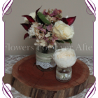 vintage pastel rose and hydrangea silk artificial flower wedding table centrepiece decoration, mason jar rustic flowers