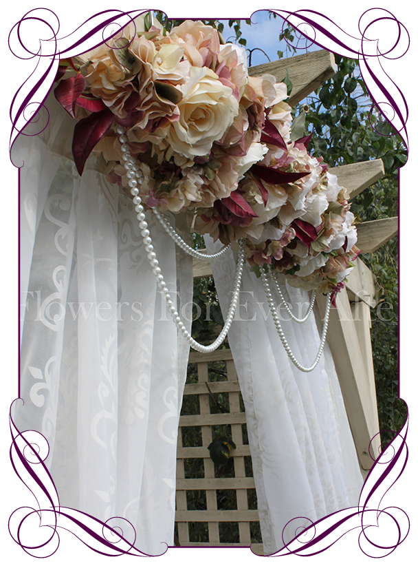 Vintage Pastel Wedding Arbor Arch Table Decoration Flowers For