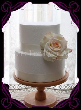 Artificial cream blush rose cake topper flower decoration. buy online.
