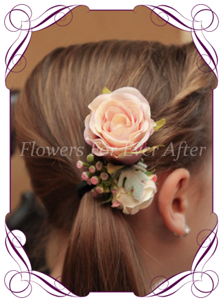 Silk Artificial Wedding Flower Flower girl comb, artificial wedding flowers hair pieces. Made in melbourne